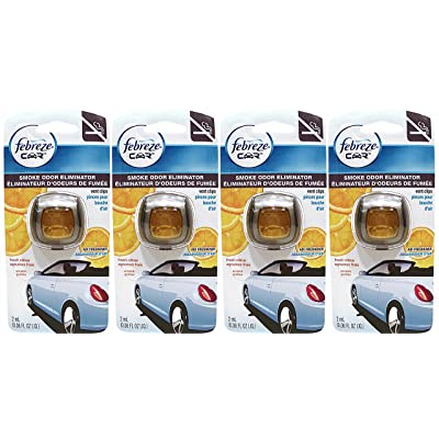 Febreze Car Vent Clips Air Freshener Smoke Odor Eliminator, Citrus Scent, (Pack of 4): Health & Personal Care