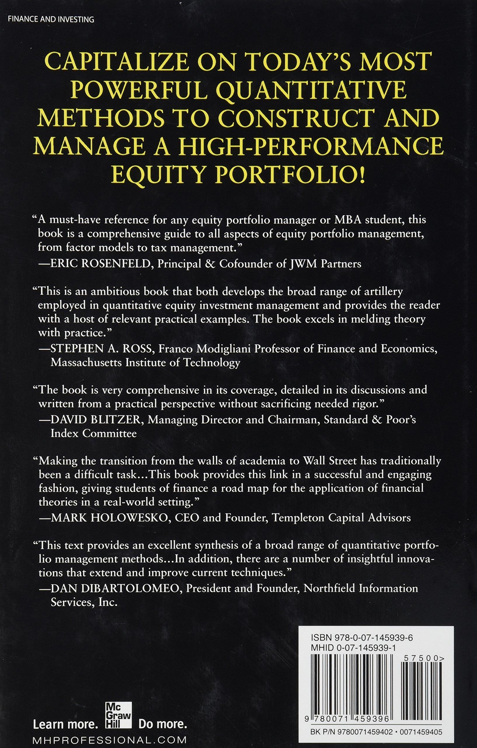 quantitative equity portfolio management an active approach to
