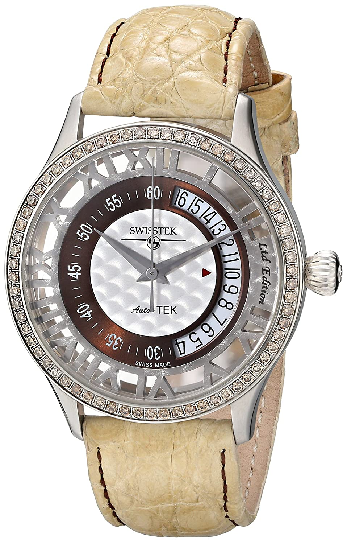 Swisstek Herren SK52707G Auto-Tek Limited Edition Diamant Automatik Uhr