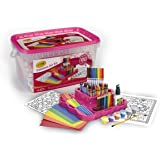 Crayola Fabulous Art Kit, Amazon Exclusive, Art Supplies, Over 100 Pieces, Gift for Girls, Age 5, 6, 7, 8