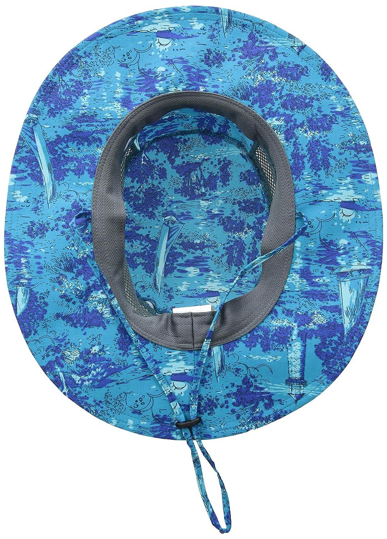 5495f4c1 Amazon.com: Columbia Unisex Bora Print Booney, Modern Turquoise Boat Bonanza,  One Size: Clothing