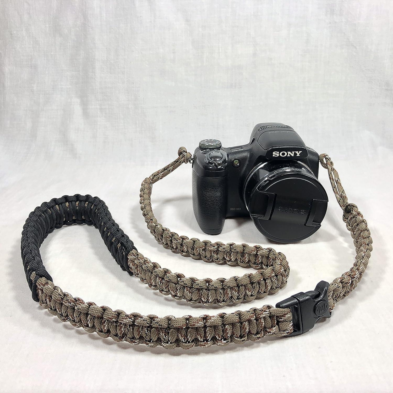 Desert Camoパラコード40インチDSLRデジタルカメラ首肩安全ストラップwithセキュリティバックル B07D3J9CF7