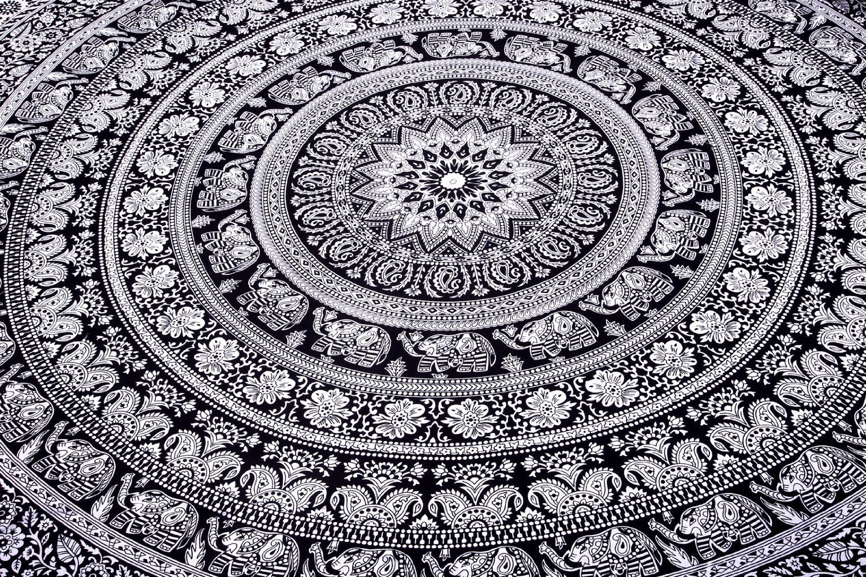 Indian elephant mandala tapestry hippie tapestries tapestry wall indian elephant mandala tapestry hippie tapestries tapestry wall hanging indian black white tapestry bohemian dorm decor mandala tapestries by altavistaventures Choice Image