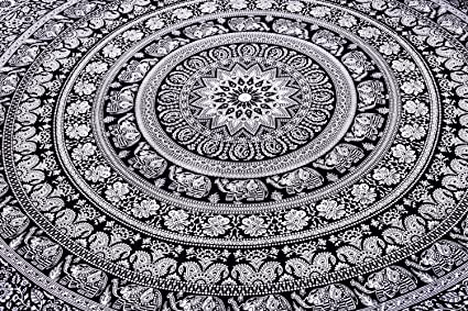 5d0a3746d86 Indian Elephant Mandala Tapestry