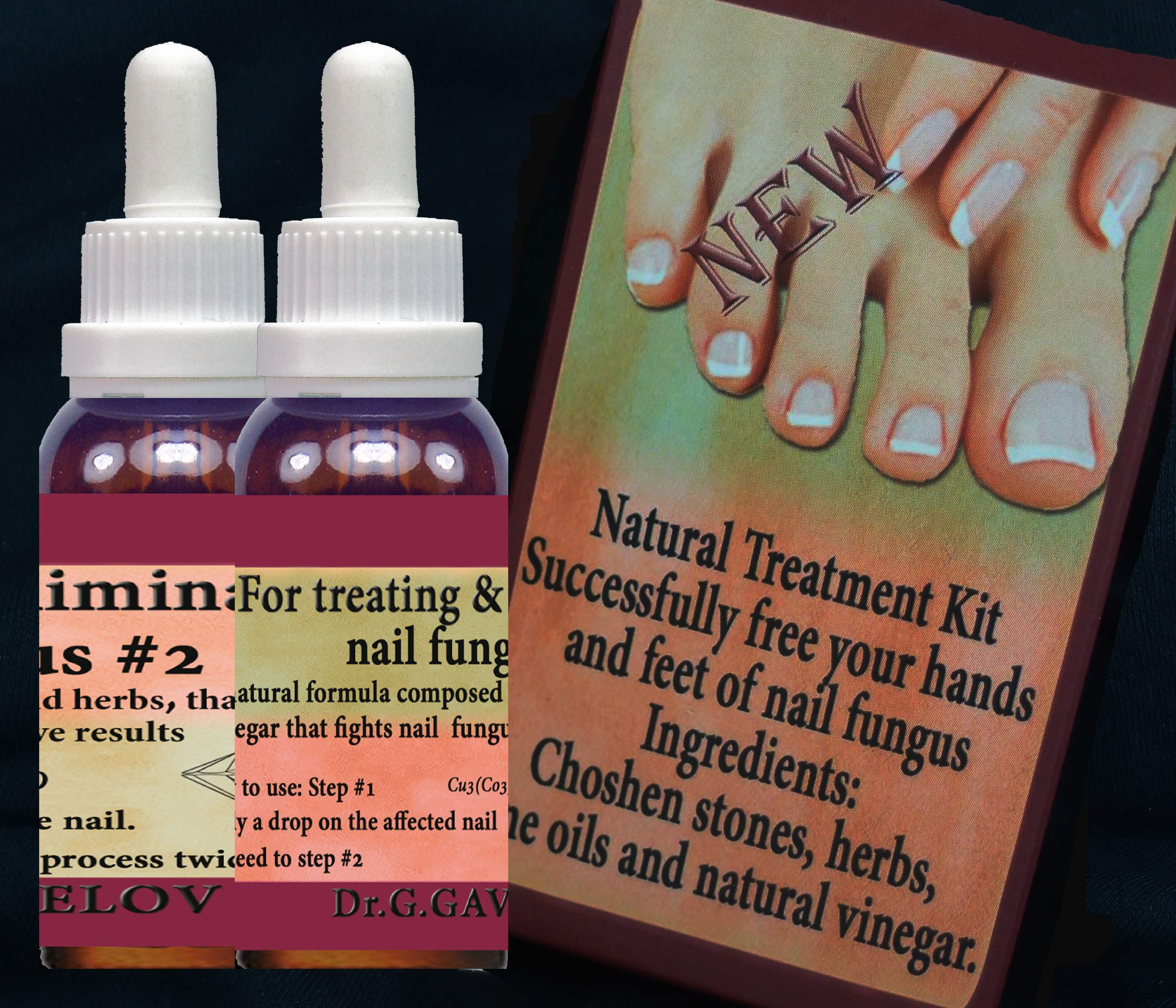 Excellent Anti Fungal Nail Treatment oils+ herbs + gem stones Natural Gifts