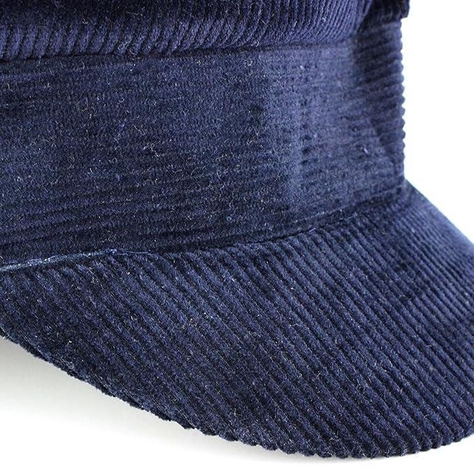 381c589097c Corduroy breton cap blue john lennon beatles cotton captains hat peak - 58   Amazon.co.uk  Clothing