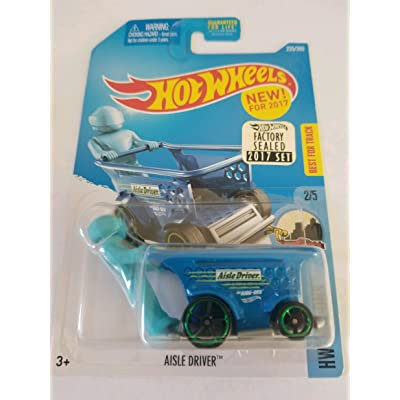 Hot Wheels 2020 HW Ride-Ons Aisle Driver (Shopping Cart Car) 235/365, Blue: Toys & Games