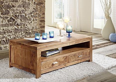 Mobili in legno massello acacia tavolino da salotto miele