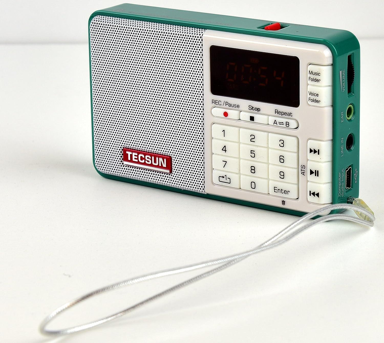 Tescun Q3 Mini Size MP3 Player, FM Radio and Voice Radio Recorder Green