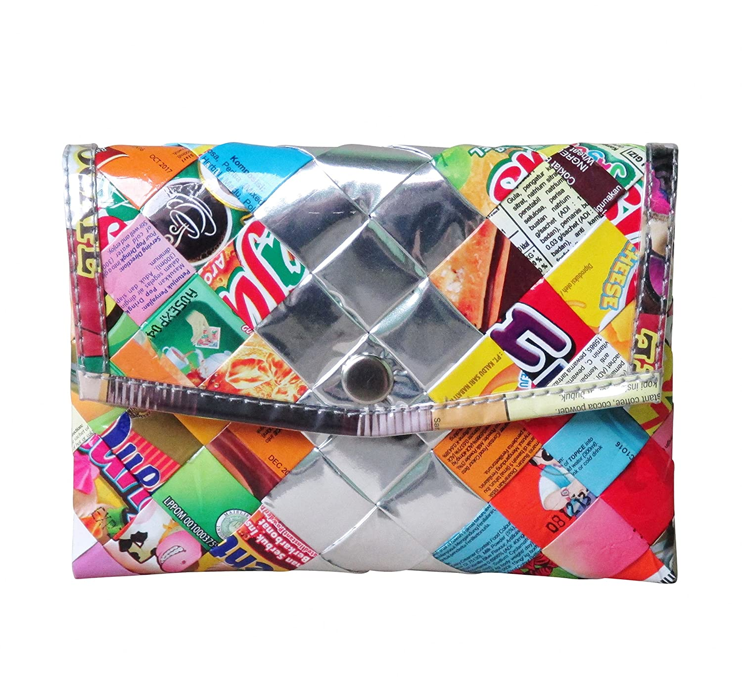 Amazon.com: Snap coin purse made of candy wrappers - FREE ...