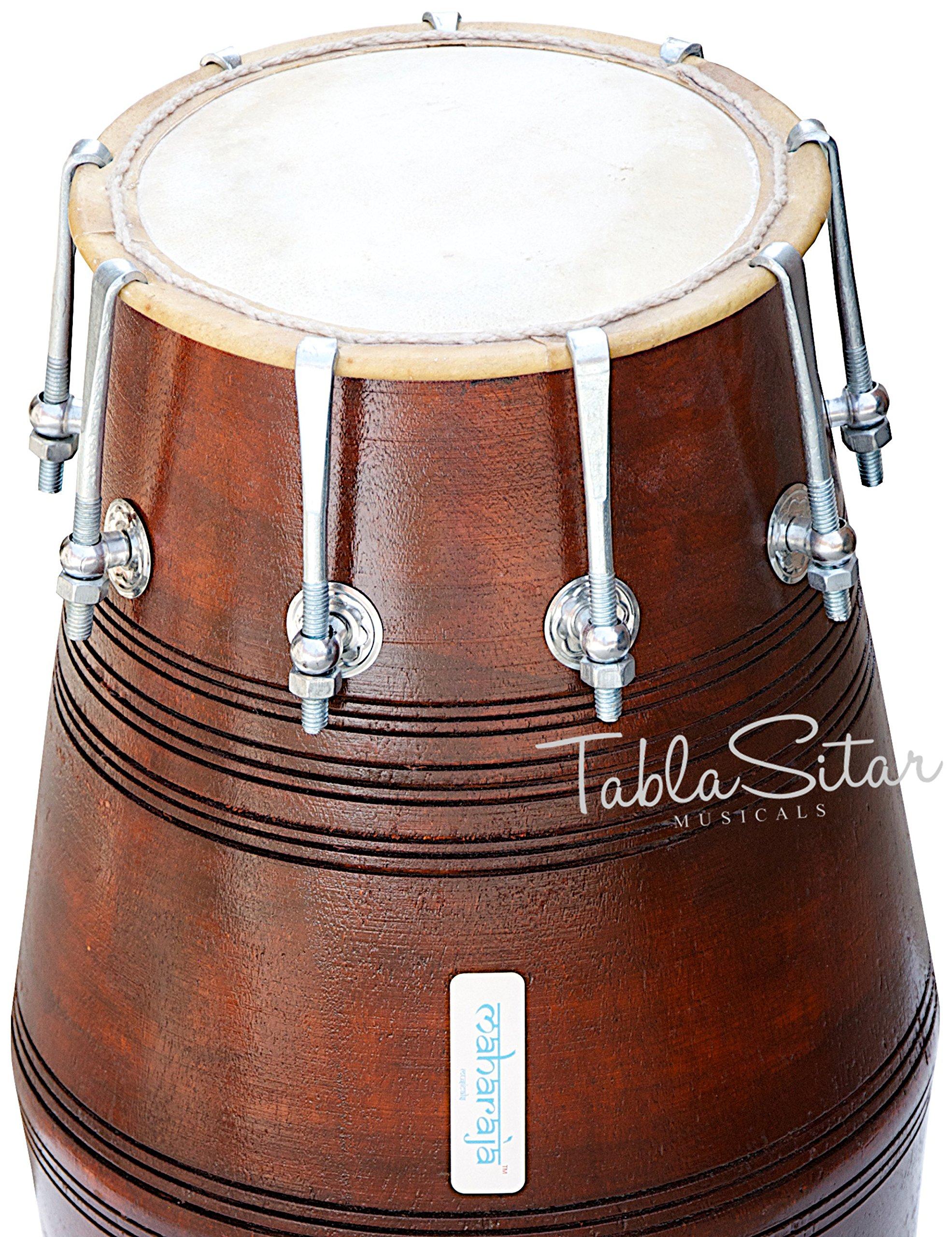 Mahraja Musicals Dholak (Dholki), Special Gajra, Mango Wood, Bolt-tuned, Padded Bag, Spanner, Dholak Drum(PDI-BGA) by Maharaja Musicals (Image #5)