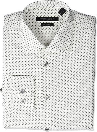 Details about  /John Varvatos Star USA Men/'s Black Regular Fit Stretch Stripe Dress Shirt
