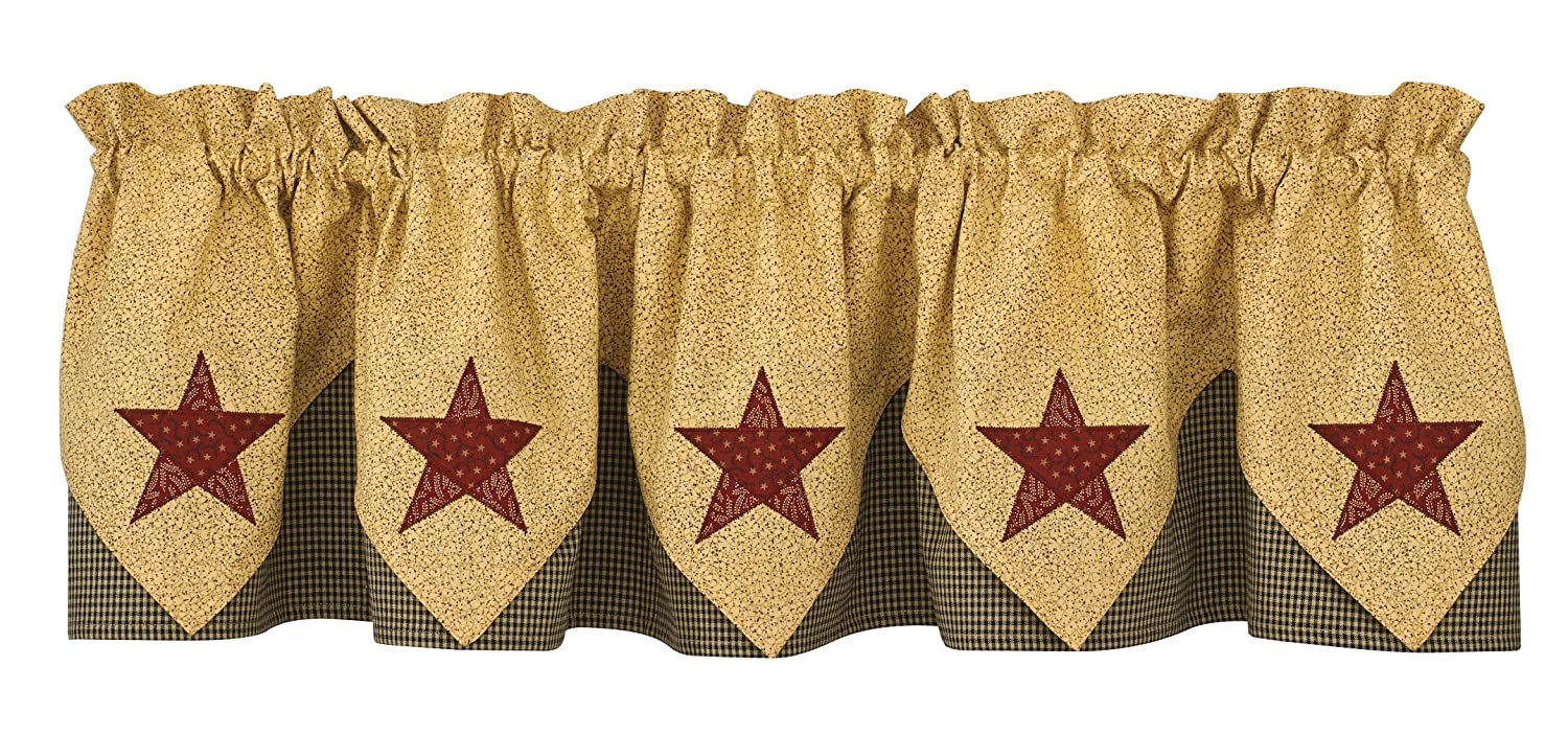 Park Designs Country Star Lined Point Valance