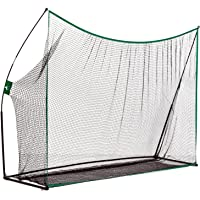 Aosom 10' x 7' Portable Golf Practice Aid Driving Hitting Net with Carrying Bag