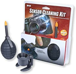 """Carson Camera Sensor Cleaning Kit with Ambient """"Air Blast"""" Cleaning Tool and Sensor Magnifier"""