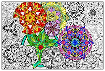 Coloriage Mandala Geant.Stuff2color Mandala Madness Mural Geant Taille Coloriage