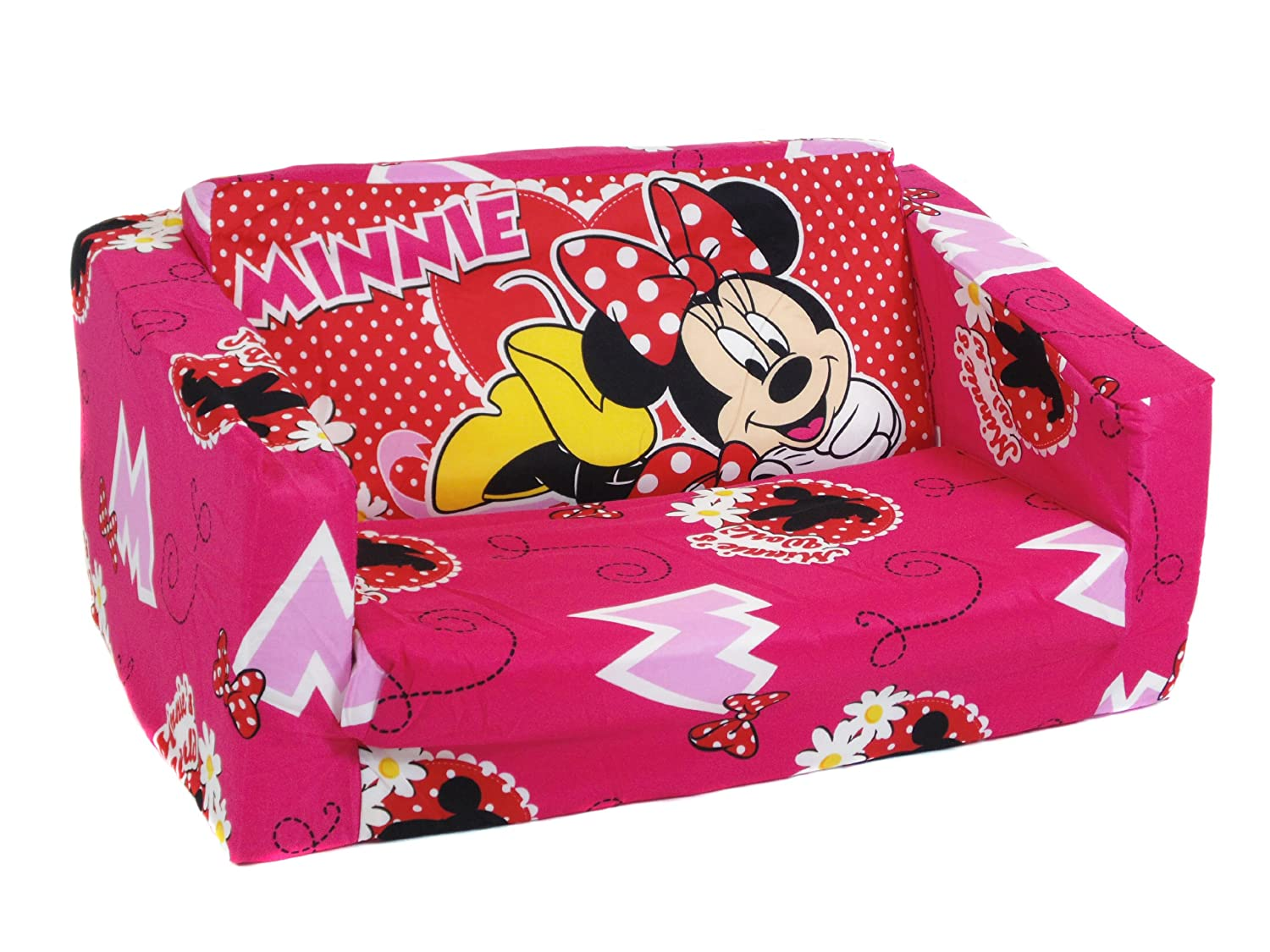 Official Minnie Mouse fold out sofa bed Amazoncouk Kitchen Home