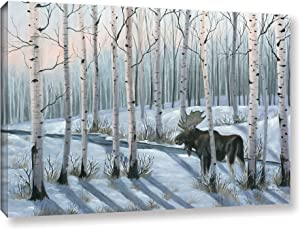 Julie Peterson ''Winter Stroll'' Gallery Wrapped Floater-framed Canvas, 16x24
