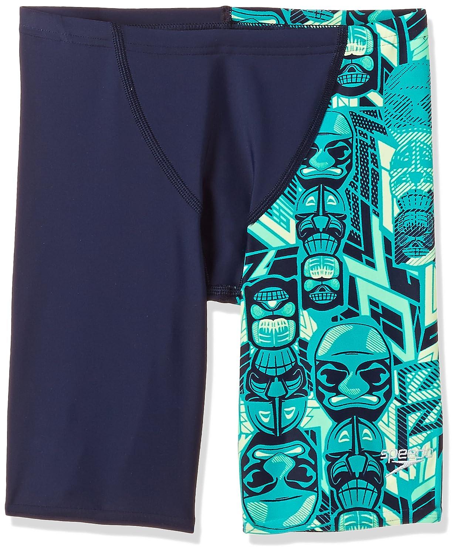 8a0383621ea5 Speedo Boys Swimwear Tri Bold Allover V Cut Panel Jammer
