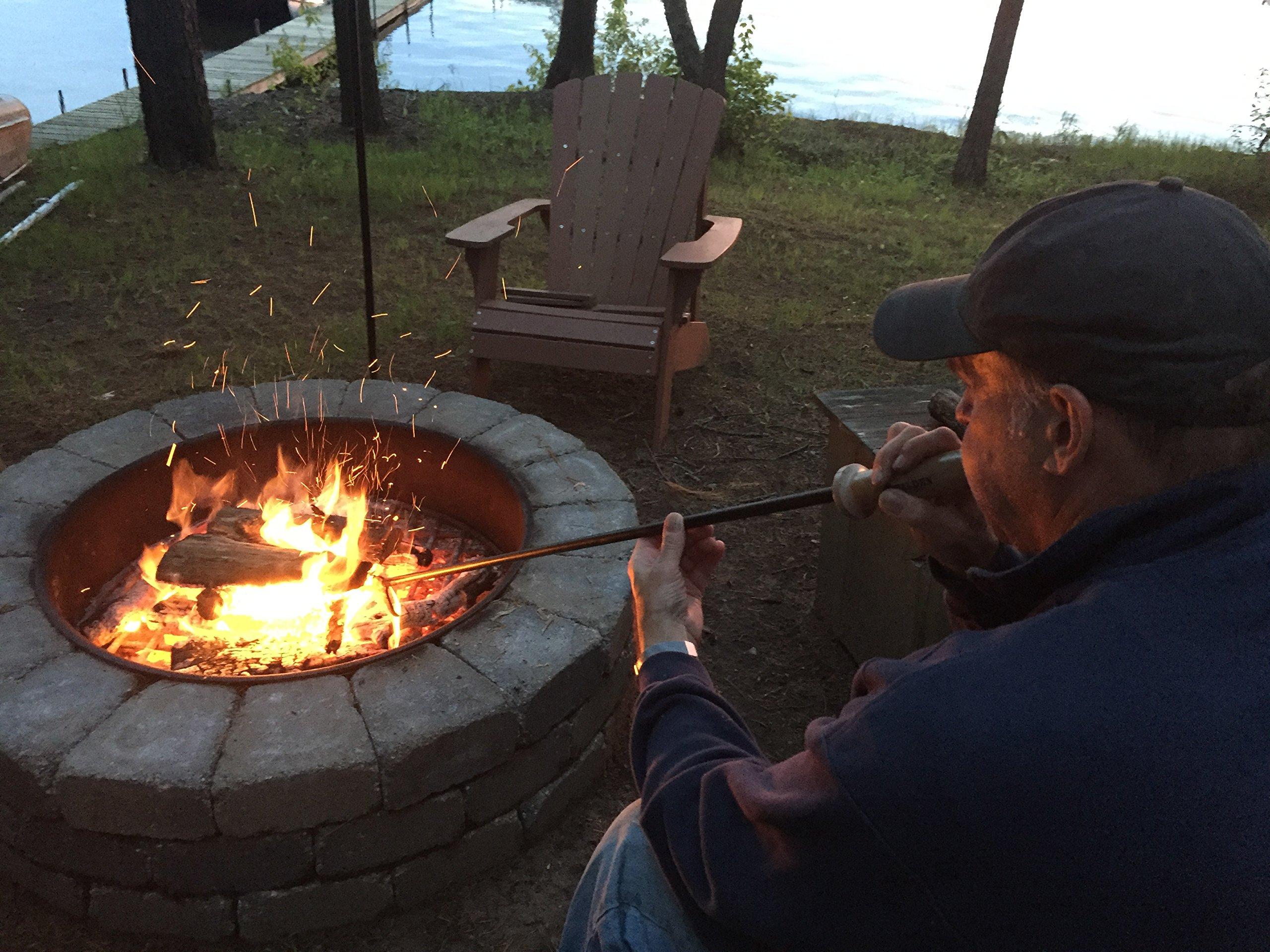 Walden Stoker Poker XL - Blow Through Fire Poker, Long 46'' - Campfire Tools and Accessories Firepoker for Fire Pit