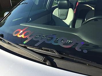 Dapper Aufkleber Hologramm Oilslick Regenbogenfarben Glitzer Aufkleber Low Lifestyle Für Tieferlegung Auto