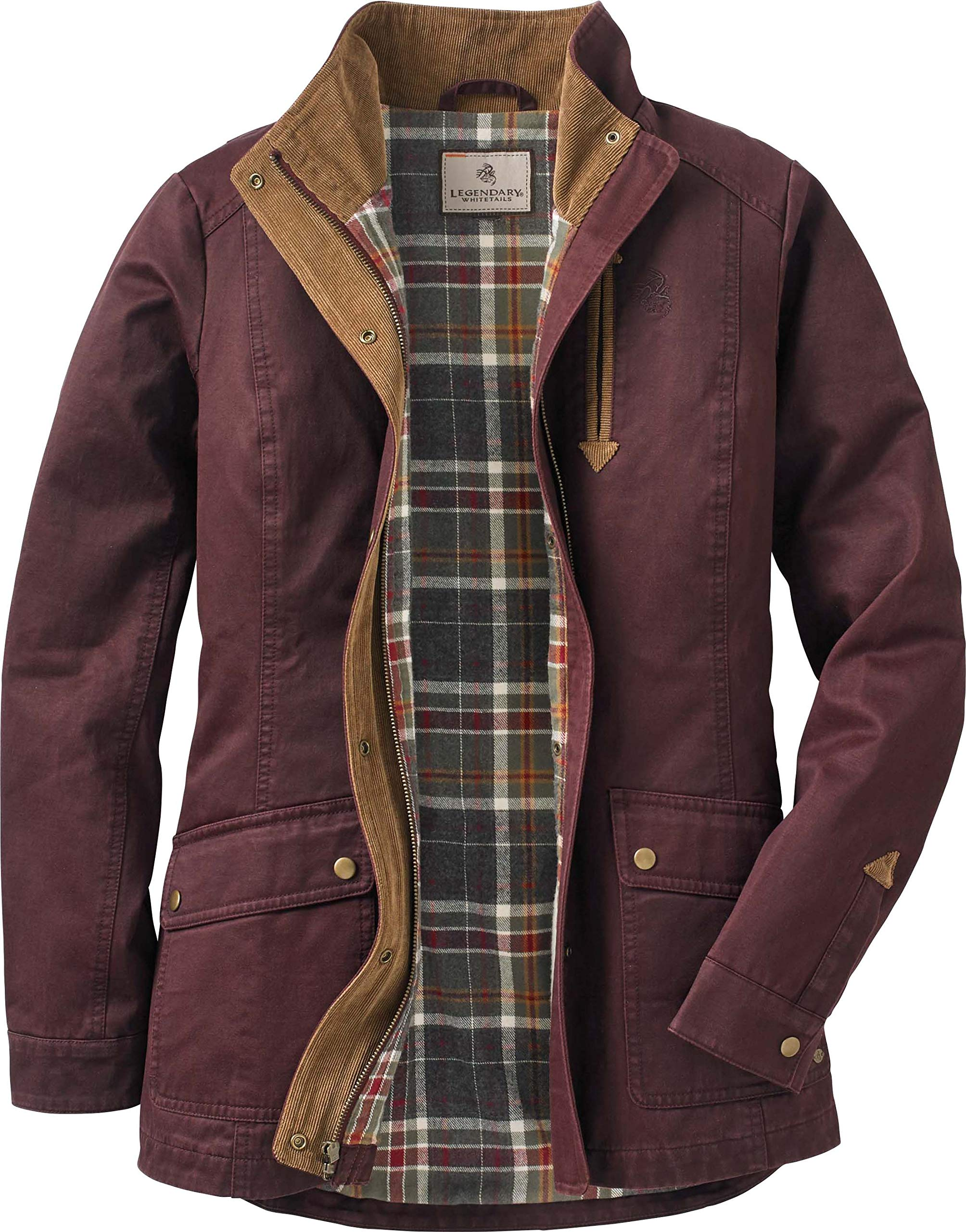Legendary Whitetails Womens Saddle Country Shirt Jacket, Rusty Maroon, X-Small by Legendary Whitetails