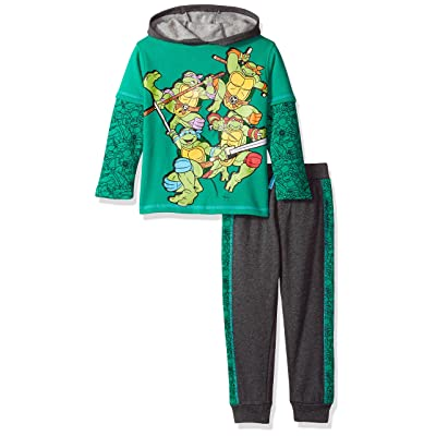 Nickelodeon Boys' 2 Teenage Mutant Ninja Turtles Fleece Set with Piecing