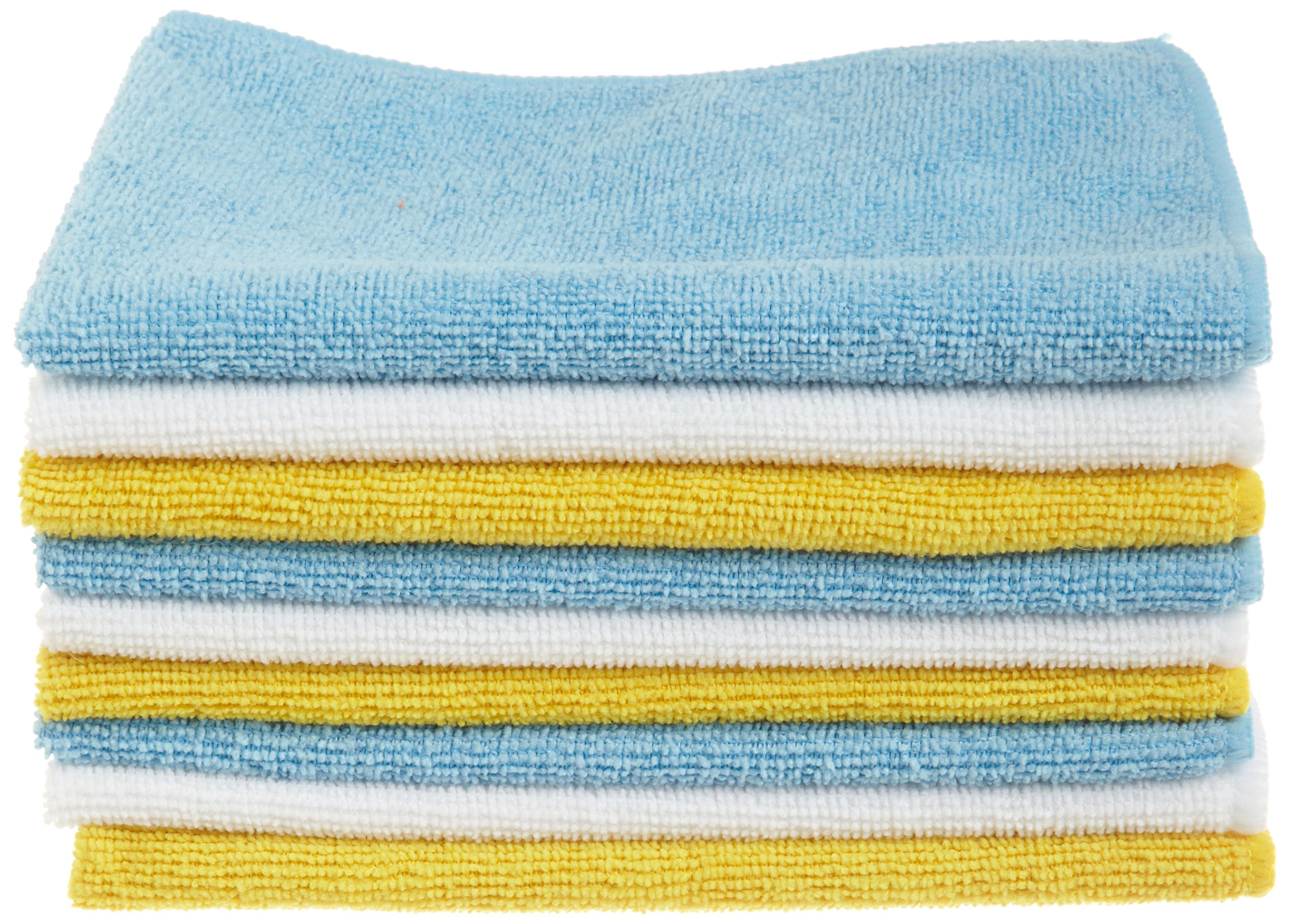 AmazonBasics Blue and Yellow Microfiber Cleaning Cloth, 24-Pack by AmazonBasics
