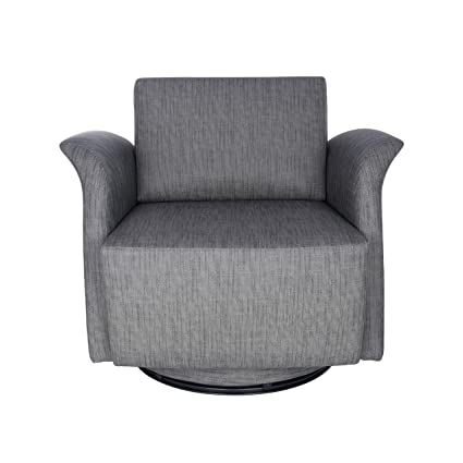 Incroyable Amazon.com: Euro Style 05016DKGRY INES Swivel Lounge Chair, Dark Gray:  Kitchen U0026 Dining