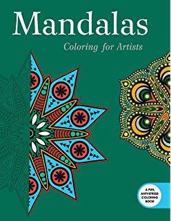 Mandalas Coloring For Artists Creative Stress Relieving Adult Book Series