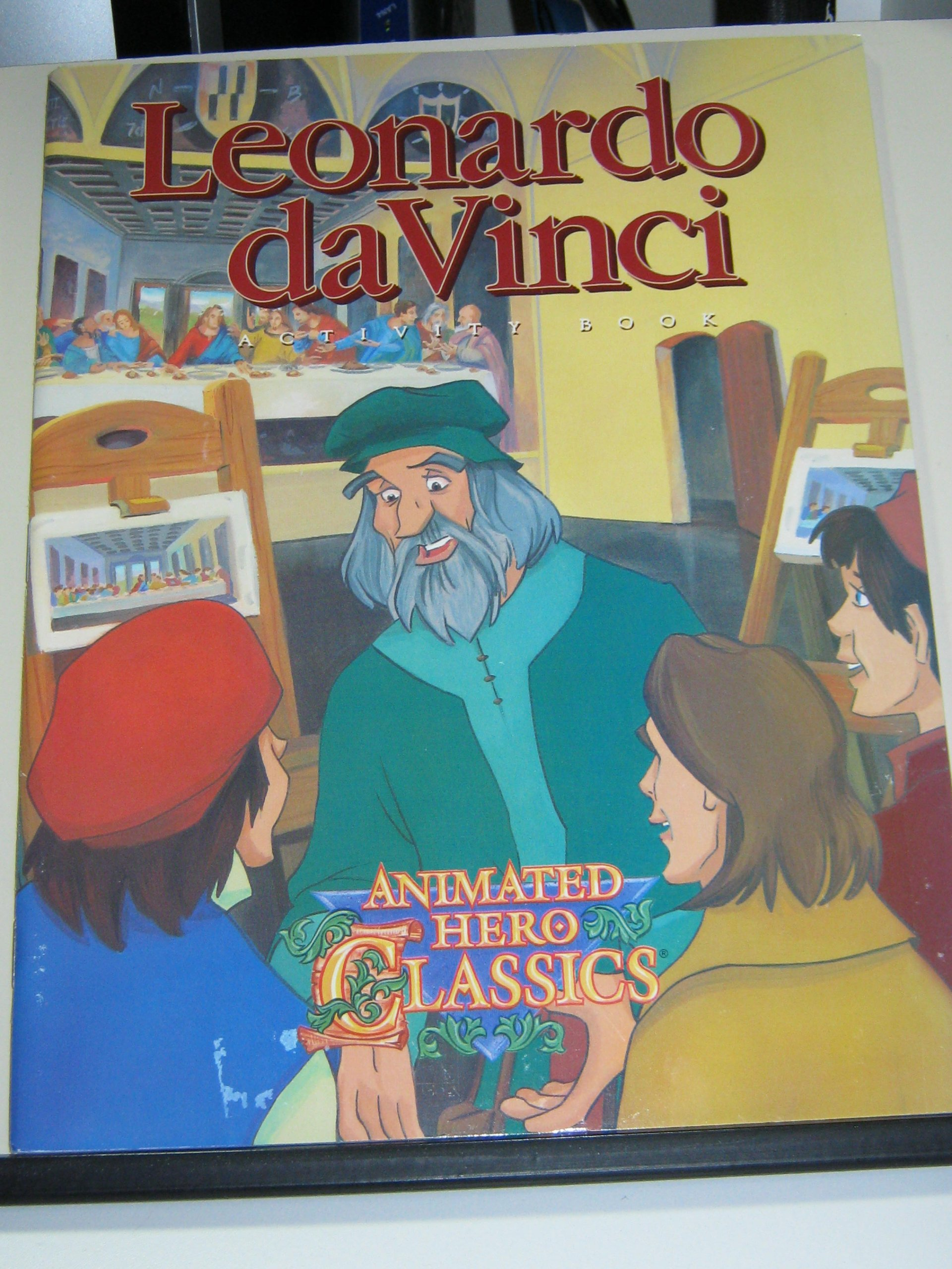leonardo da vinci activity book animated hero classics