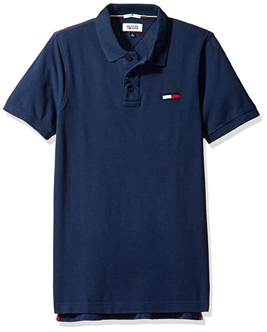 fdd76c1c Tommy Hilfiger Men's Thdm Basic Big Flag Short Sleeve Polo Shirt:  Amazon.ca: Clothing & Accessories