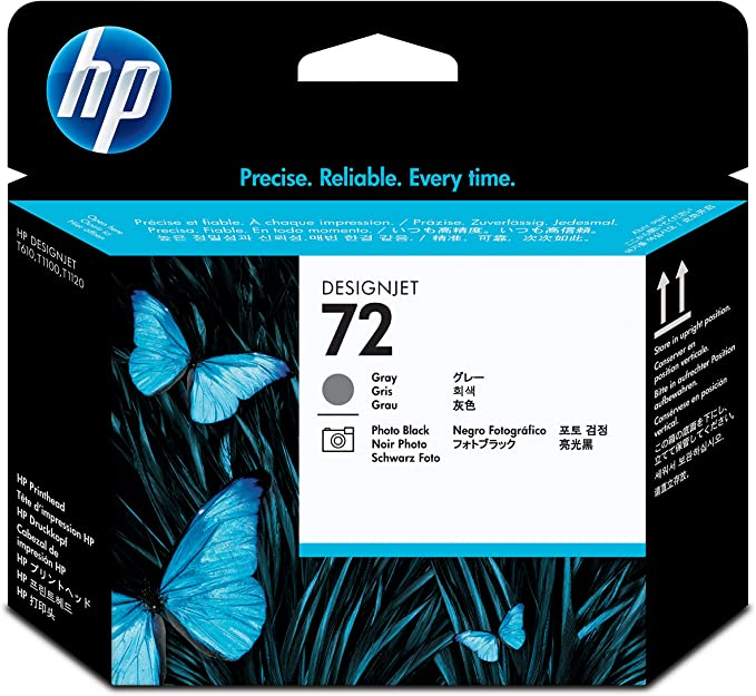 HP C9380A - Cabezal de Impresora, Gris y Negro fotográfico: Hp: Amazon.es: Oficina y papelería