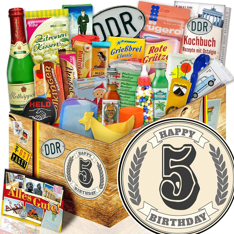 Geschenke zum Geburtstag 5.   DDR Korb 24er 24er 24er Allerlei   5 Geburtstag Geschenk B07FNJN2VD   Bekannt für seine gute Qualität  1dd691