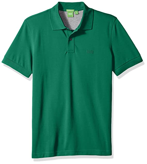 e4ea3a67 BOSS Green Men's C-Firenze Regular Fit Knitted Pique Polo, Open Green,  Medium