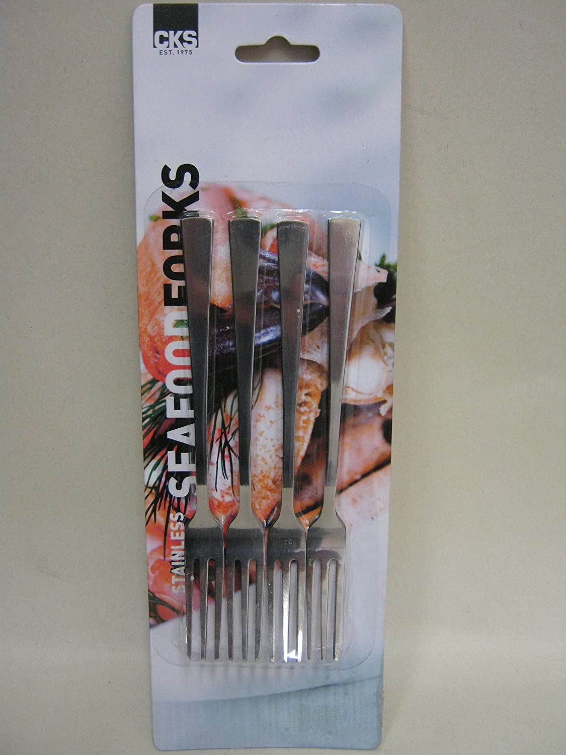 New CKS Seafoods Forks Stainless Steel Pk 4 J292