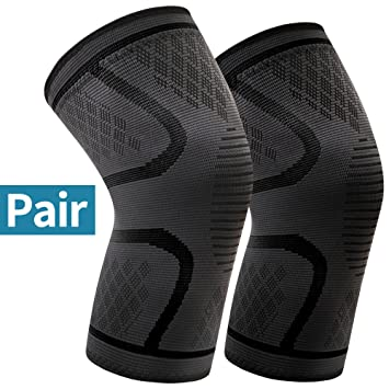 70f38ea5ac Arteesol Knee Support 2 Pack Anti Slip Knee Brace Compression Sleeves Super  Elastic Breathable for Joint