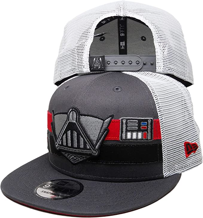 Black//Grey New Era A Unisex Cap Darth Vader Word Design