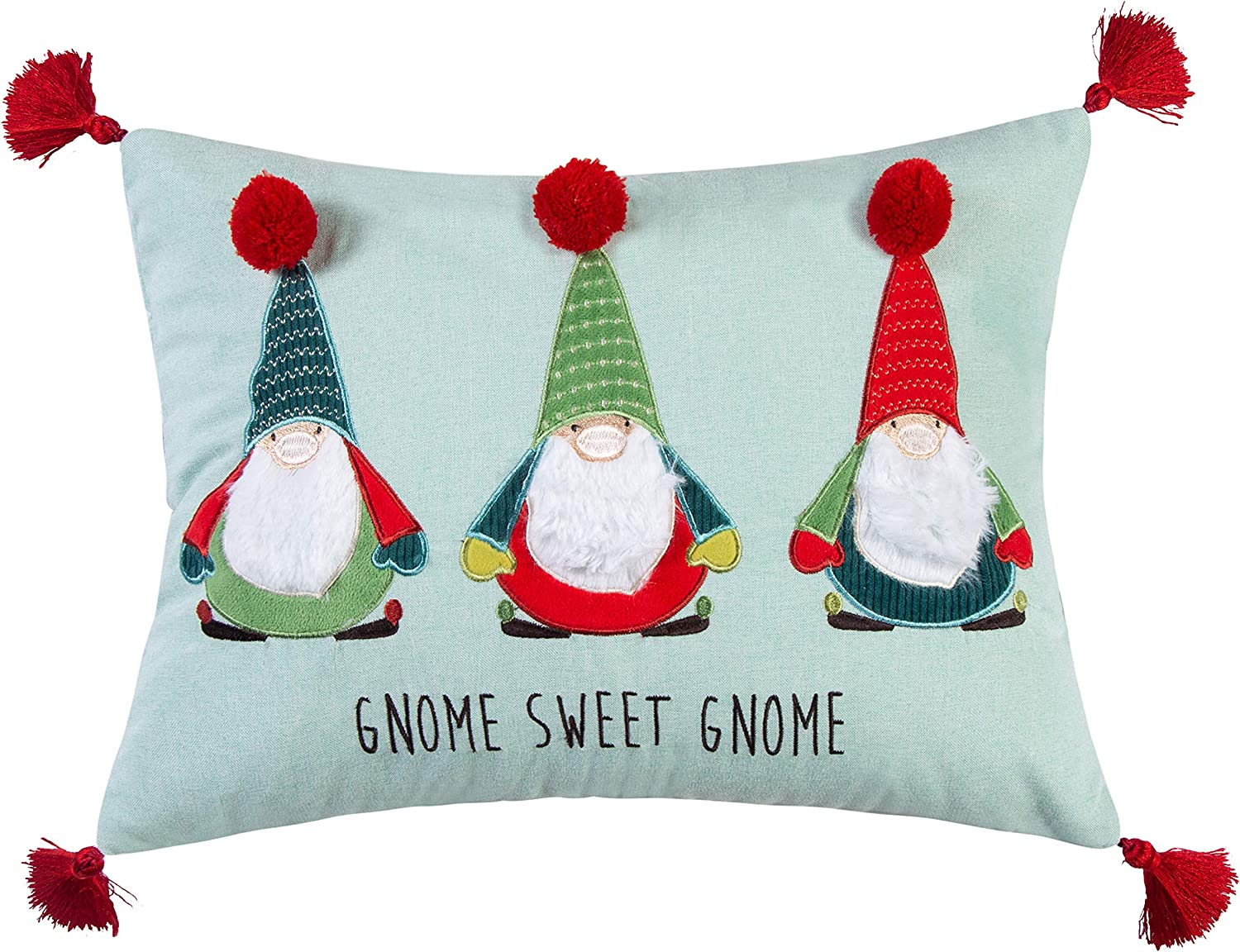 Merry & Bright Gnome for The Holidays Christmas Pillow