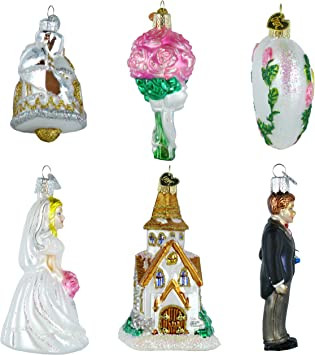 Amazon Com Old World Christmas Wedding Collection Ornament Box Set Home Kitchen