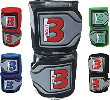 watch 25fae 86d0e OXLAM Boxing Hand Wraps – MMA, Martial Arts, Kick Boxing, Muay Thai  Training – Length 4.5 m, BOUT3 Wrist Wrap with Thumb Loop, Optimal Sweat  Absorption and ...