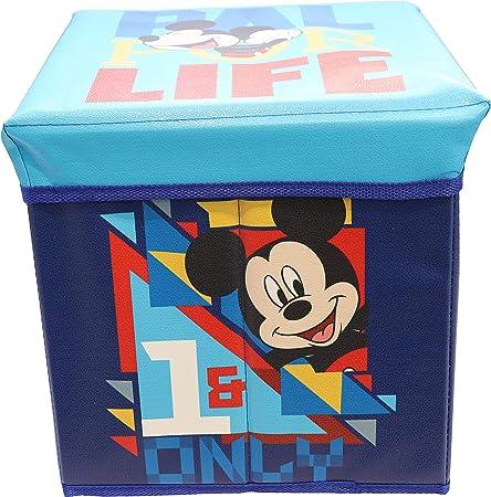 Puf Disney caja con cojín 30 x 30 cm disponible con diferentes personajes (Mickey Mouse – Mickey Mouse: Amazon.es: Hogar