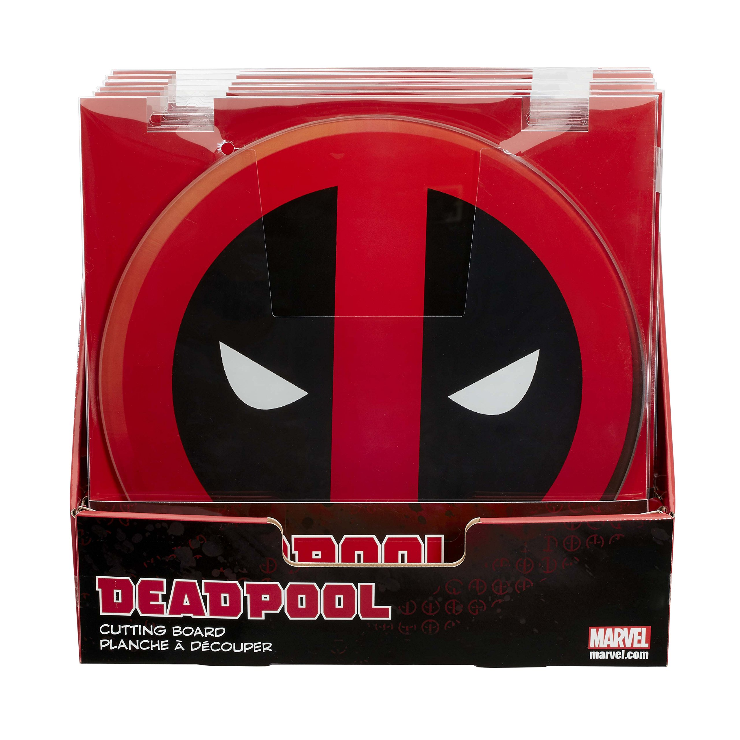 DEADPOOL Plate Set - Set of 4 Plates, all With Different Deadpool Action Poses on 8'' x 8'' Square Plate