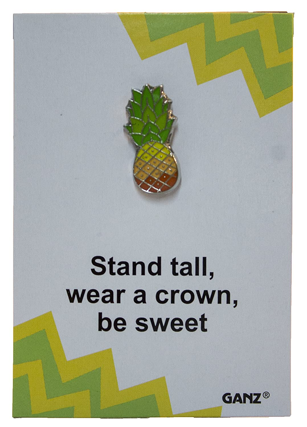 Lapel Pin Hat Pin Tie Tack with Colorful Enamel and Funny Pun Pin It Pineapple