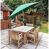 GlamHaus Parasol de Jardin inclinable pour extérieur 2,7 m en Aluminium Robuste Vert