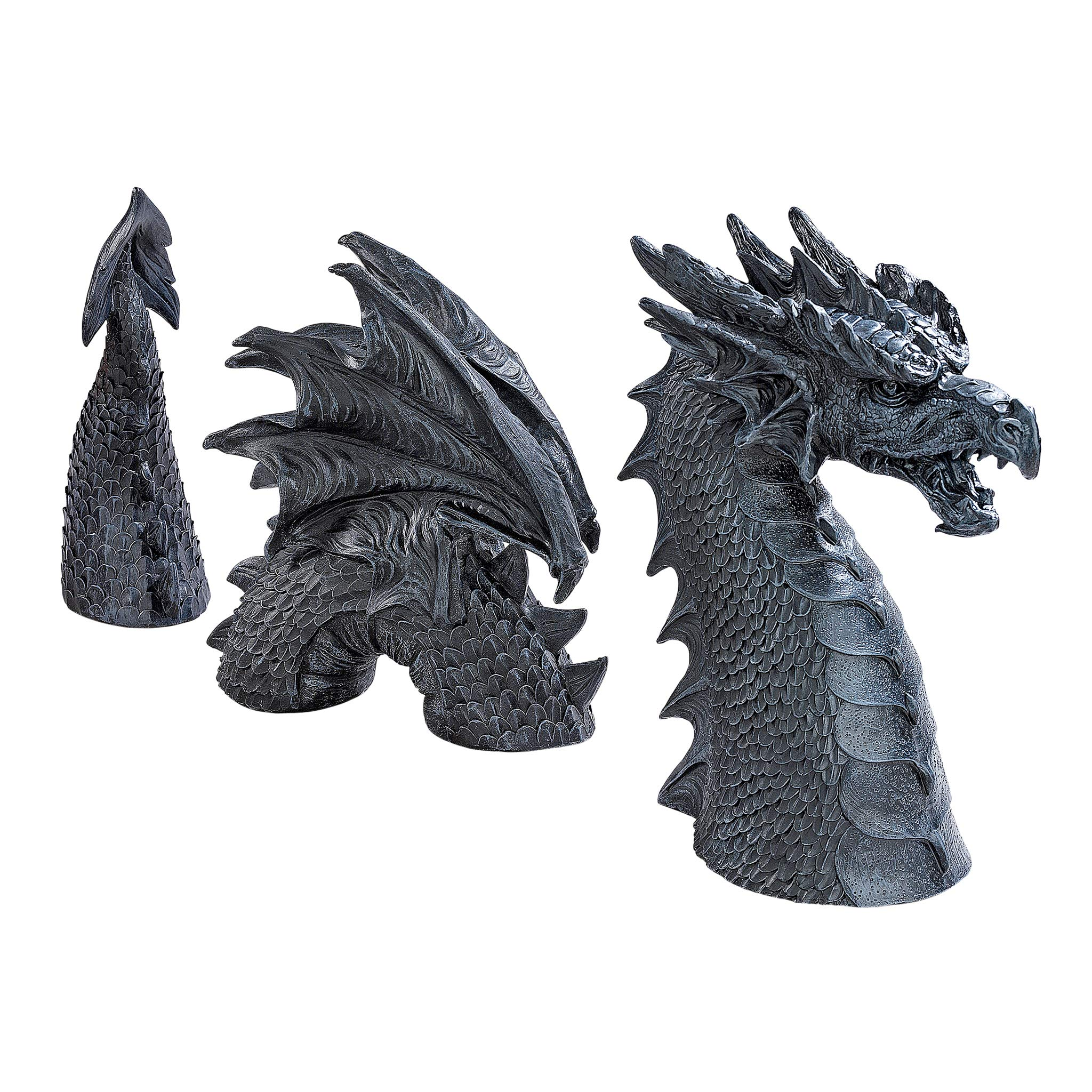 The Dragon of FalkenbeGarden Statue 28 Inch Grey