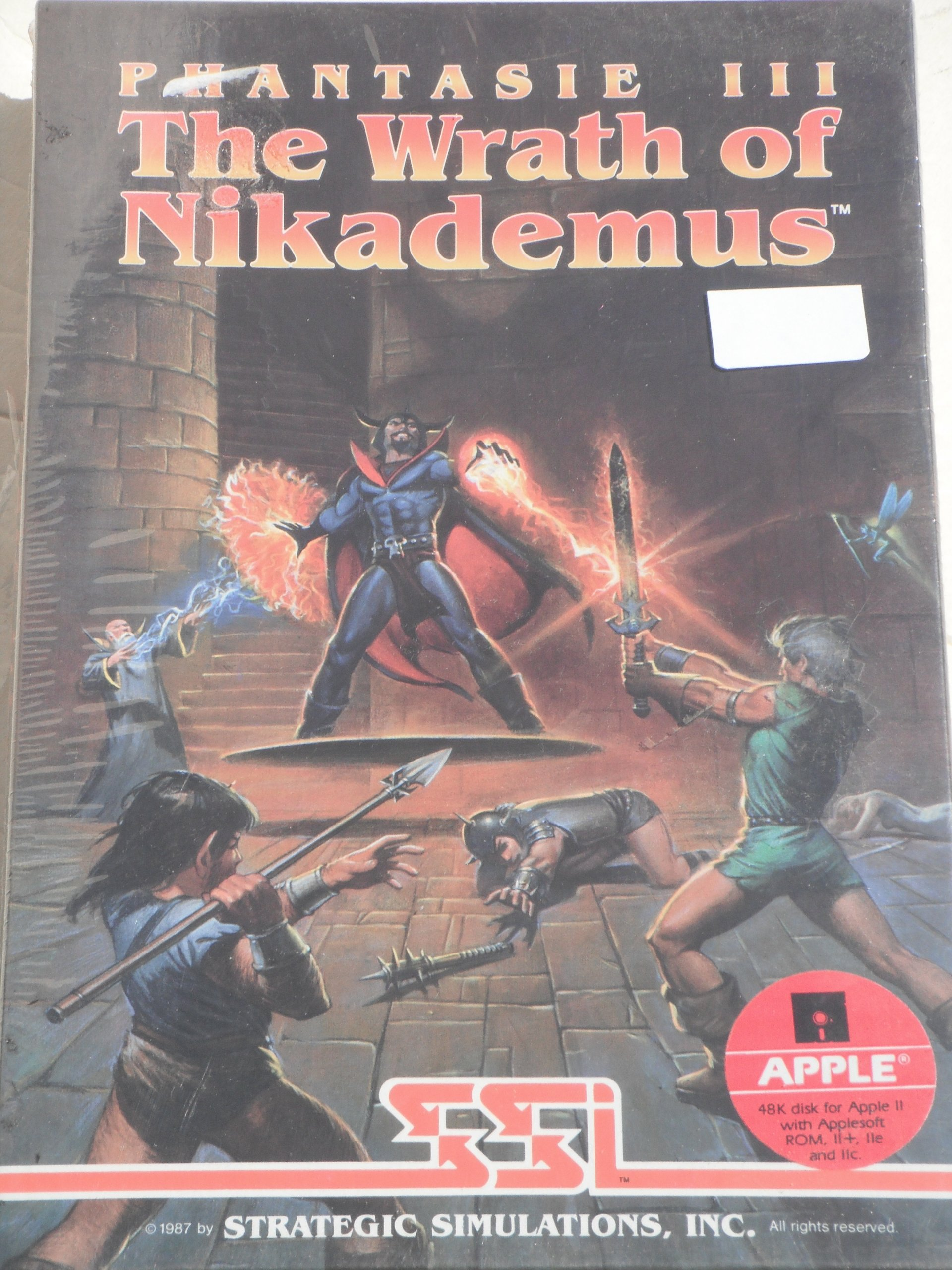 Amazon com: PHANTASIE III (1987): The Wrath of Nikademus (APPLE II