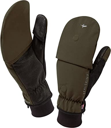 Sealskiinz Ultra Grip Waterproof Glove V Various Sizes. Black or Green