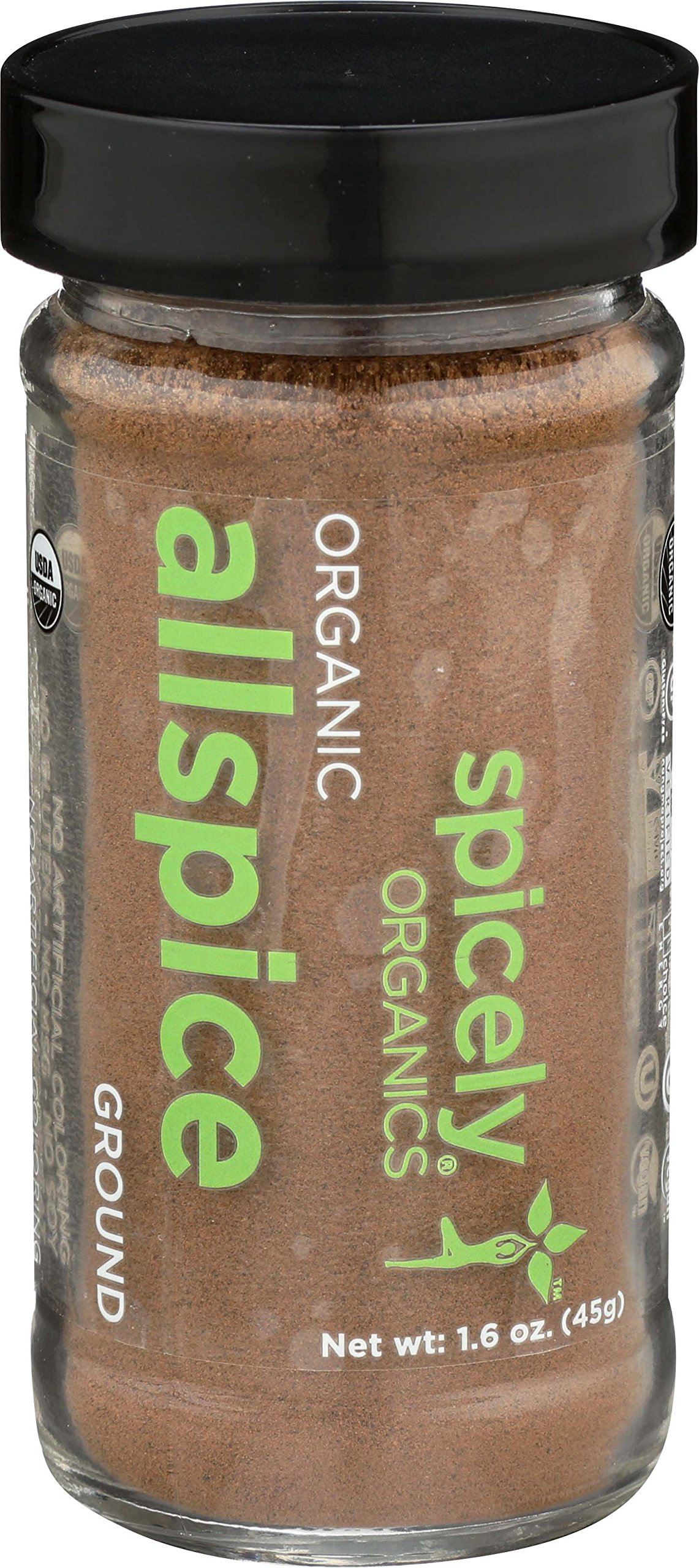 Spicely Organic Allspice Powder 1.60 Ounce Jar Certified Gluten Free