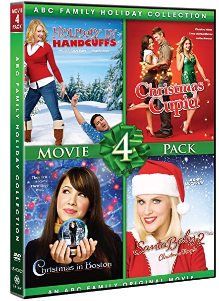 amazoncom abc family holiday collection movie 4 pack christmas cupid christmas in boston holiday in handcuffs santa baby 2 various movies tv - Abc Family Original Christmas Movies